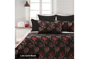 Lola Black Quilt Cover Set - QUEEN by Accessorize