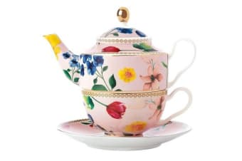 Maxwell & Williams Teas & C's Contessa Tea For One with Infuser 380ml Rose