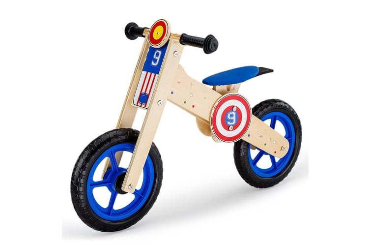 ROVO KIDS Wooden Kids Balance Bike Ride On Toy Push Bicycle Trainer Outdoor