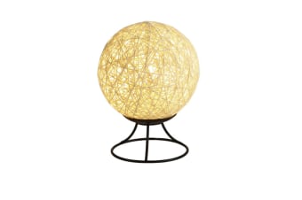Romantic Star Cane Ball Lamp 3D Table Lamp Linen Table Lamp - Beige Beige Dimming Switch