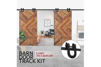 Antique BD1003 Classic Sliding Double Barn Door Track Kit 2.44m