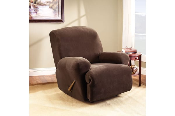 SureFit Pearson Recliner Chair Cover - Coffee