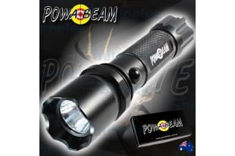 POWABEAM CREE RECHARGEABLE LED WATERPROOF FLASHLIGHT LIGHT TORCH TACTICAL F2000