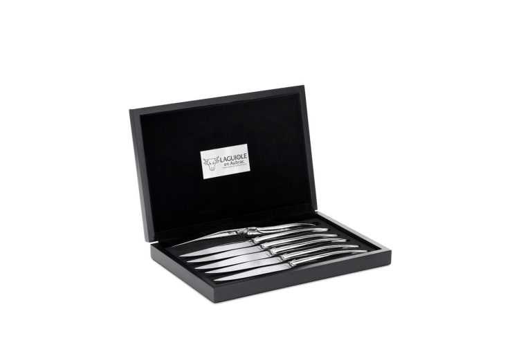 Laguiole En Aubrac 6 Piece Stainless Steak Knife Set