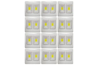 12x COB LED Dual Mode Cordless/Wireless Night Light Switch Closet/Indoor/Outdoor