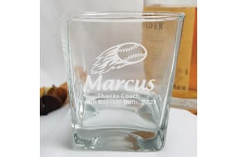 Baseball Coach Engraved Personalised Scotch Spirit Glass