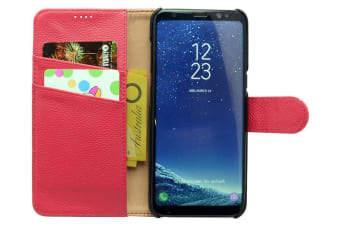 For Samsung Galaxy Note 8 Case Fashion Elegant Genuine Leather Cover Rose