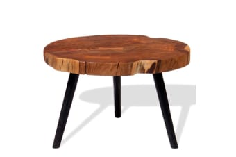 vidaXL Log Coffee Table Solid Acacia Wood (55-60)x40 cm