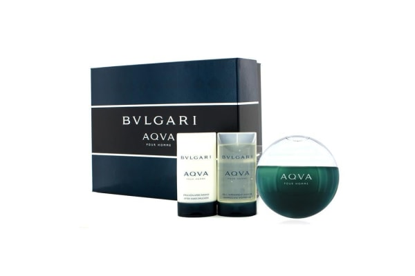 Bvlgari Aqva Pour Homme Coffret: Eau De Toilette Spray 100ml/3.4oz + Shampoo & Shower Gel 75ml/2.5oz + After Shave Emulsion 75ml/2.5oz (3pcs)