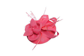 Intrigue Womens/Ladies Linen Look Fascinator (Pink) (One Size)