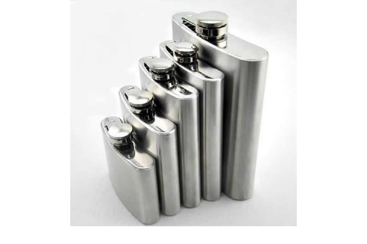 Stainless Steel Hip Flask - 8oz