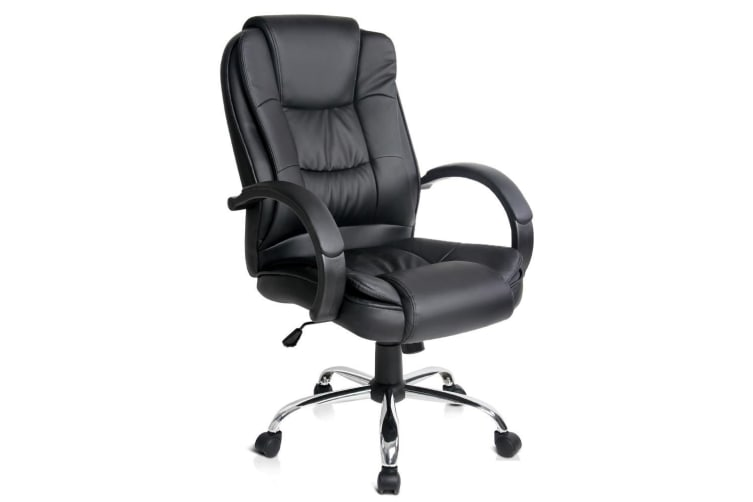Office Chair Computer Chairs Executive Leather Seating Home Black