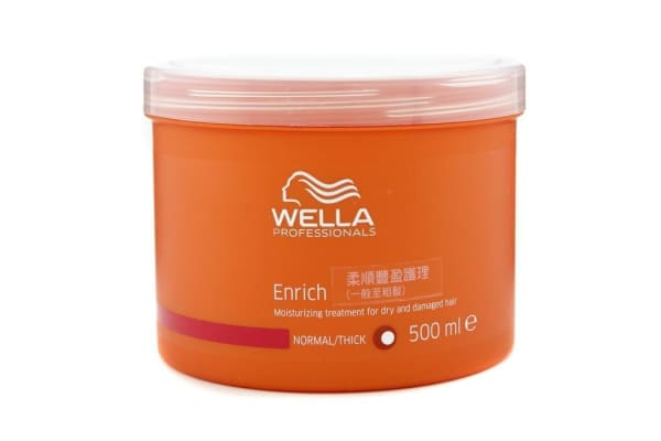 Wella Enrich Moisturizing Treatment For Dry & Damaged Hair (Normal/ Thick) (500ml/16.7oz)