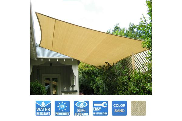 Heavy Duty Sail Shade in Sand 3.6x3.6m 180GSM