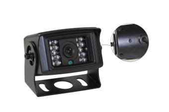 Elinz 4 PIN Heavy Duty 12V 24V CCD IR Colour Reversing Camera 10M with built in Microphone