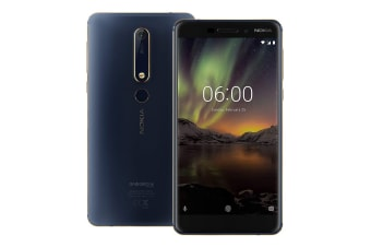 Nokia 6.1 (64GB, Blue/Gold)