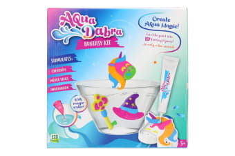 8pc Aqua Dabra Fantasy Kit 3D Paint Toy w/Magic Water Unicorn/Hat/Key Mould 5y+