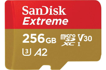 SANDISK SDSQXA1-256G-GN6MATF Extreme A2 V30 UHS-I/U3 160R/90W WITH SD ADAPTER