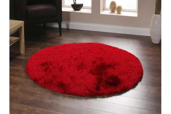 Twilight Shag Rug - Red 120x120cm