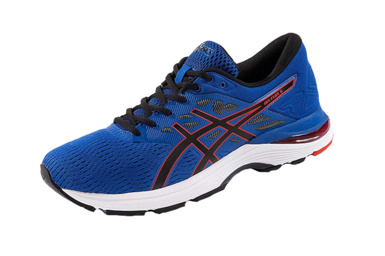 ASICS Men's GEL-Flux 5 Running Shoe (Blue/Black, Size 10.5)