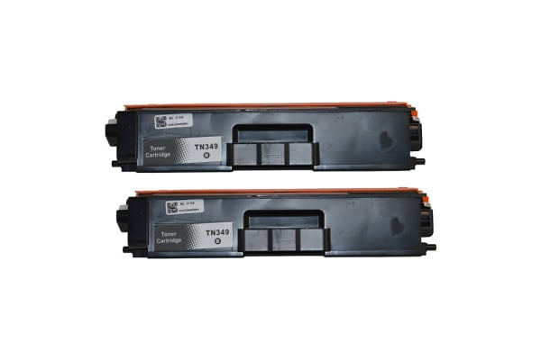 TN-349 Black Premium Generic Toner (Two Pack)