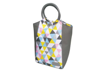 Sachi Insulated Lunch Bag carry Tote Storage Travel Bag Triangle Mosaic