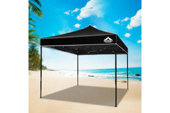 Pop Up Gazebo 3x3 Outdoor Tent Folding Wedding Marquee Gazebos Black