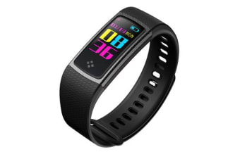 """TODO Bluetooth V4.0 Fitness Watch Band Heart Rate Blood Pressure Ip67 0.96"""" Oled - Black"""