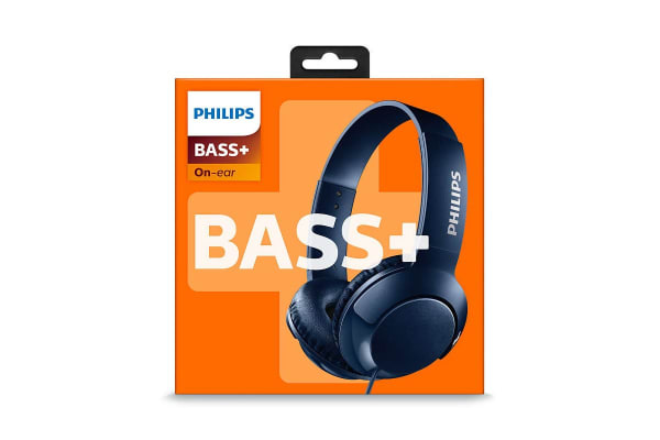 Philips BASS+ On-Ear Headphones - Blue (SHL3070BL)