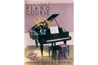 Alfred's Basic Adult Piano Course Lesson Book, Bk 1 - Book & CD