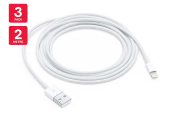 Apple Lightning to USB Cable (2m) - (3 Pack)