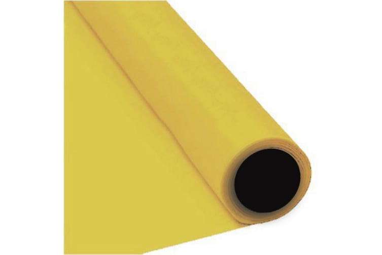 Amscan Plastic Tablecover Banqueting Roll (Yellow) (One Size)