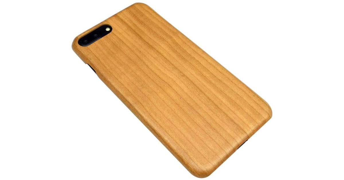 check out f4e0a 4d23f For iPhone 8 PLUS 7 PLUS Case Natural Cherry Wooden Durable Protective  Cover   Phone Cases
