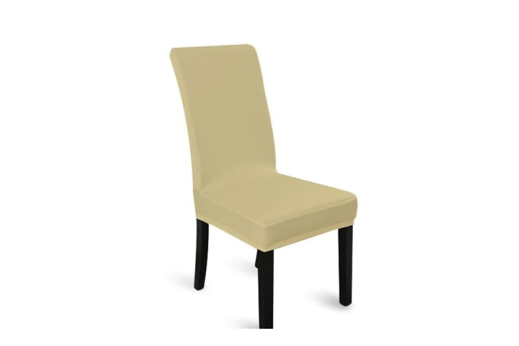 NEW Stretch Elastic Dining Room Wedding Banquet Chair Cover Washable 6pcs  -  Champagne(6pcs)