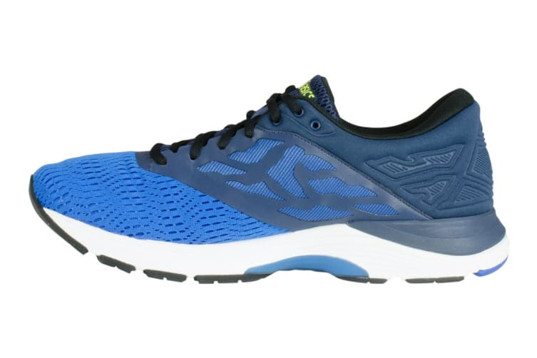 ASICS Men's Gel-Flux 5 Running Shoe (Directoire Blue/Black/Safety Yellow, Size 11.5)