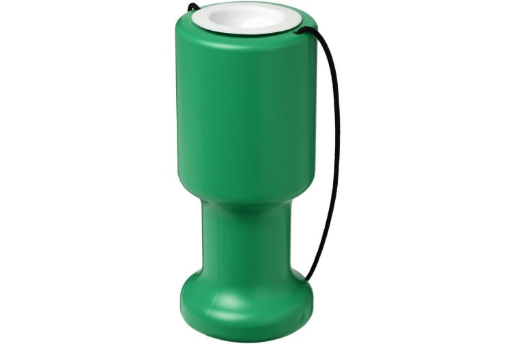 Asra Hand Held Plastic Charity Container (Green) (One Size)