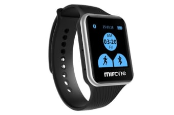 Mifone Smart Watch 2.5D Sapphire Touch Screen Bluetooth Fitness Band Black