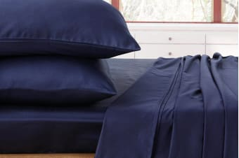 Ardor 1000TC Luxury Sheet Set (King, Navy)