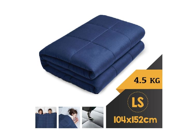 WEIGHTED BLANKET LONG SINGLE Heavy Gravity NAVY BLUE 4.5KG