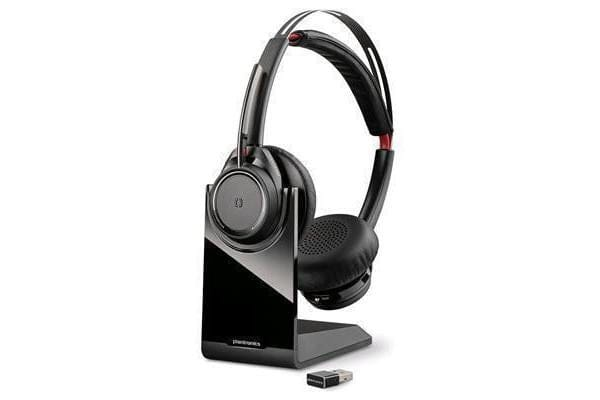 Plantronics B825 Voyager Focus UC - Stereo Bluetooth headset system with active noise canceling