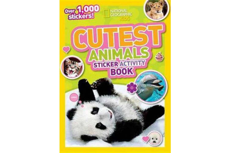 National Geographic Kids Cutest Animals Sticker Activity Book - Over 1,000 Stickers!