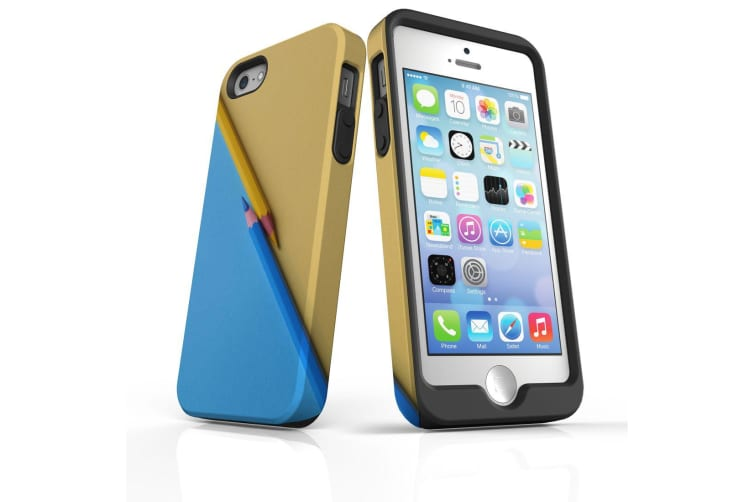 For iPhone SE Case  Protective Back Cover  Blue or Yellow
