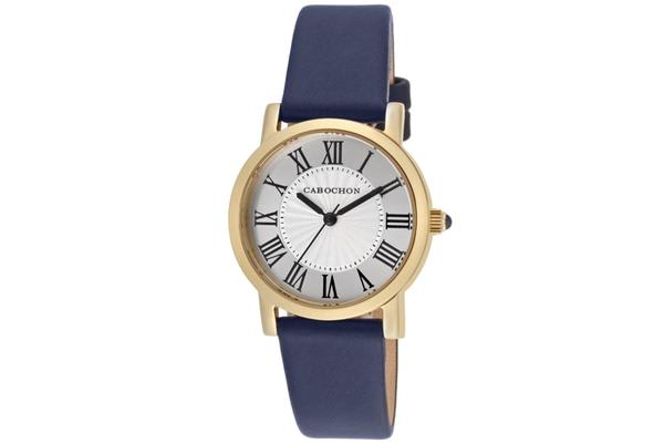 Cabochon Women's Dame Chic Silver Dial Blue Genuine Leather (CABOCHON-402S-03)