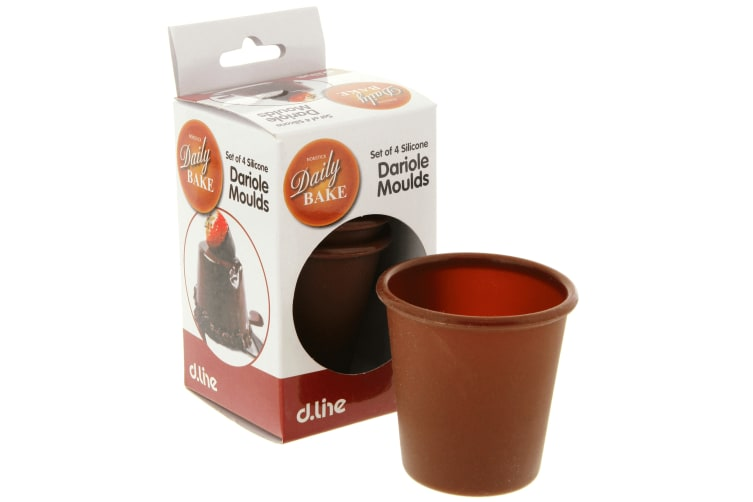 Daily Bake Set 4 Silicone Dariole Moulds