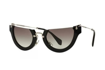 Miu Miu MU11QS - Black (Grey Shaded lens) Womens Sunglasses