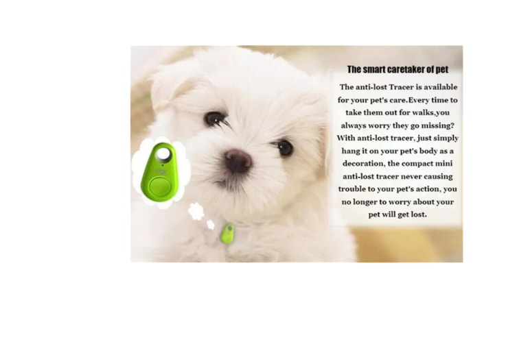 Select Mall Pet Tracker Dog Anti Lost Tracker Smart Bluetooth Tracer Locator Tag Alarm Tracer Finder Home Pet Anti Lost Device-GREEN