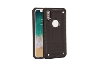 For iPhone XS & X Case  Armour Strong Shockproof Thin Tough Phone Cover  Black