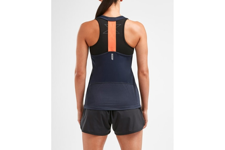 2XU Women's XVENT Singlet (Outer Space, Size XS)