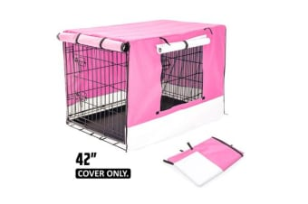 "42"" Cover for Wire Dog Cage - PINK"