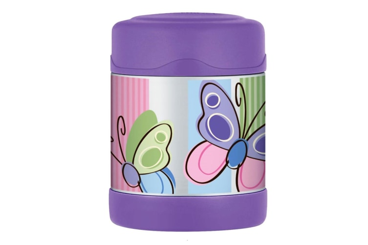 Thermos Funtainer Stainless Steel 290ml Food Container - Purple Butterfly
